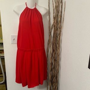 Lacoste 38 red halter dress